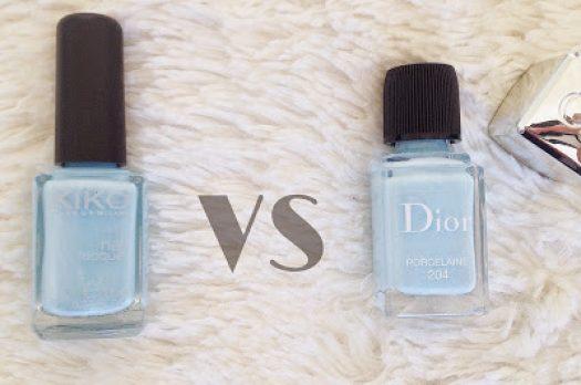 Duel Dior VS Kiko : Manucure bleu pastel