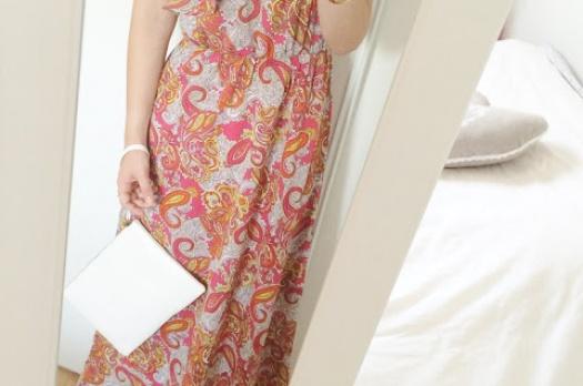 LOOK n°41 / Maxi dress & gold