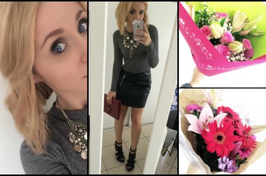 LOOK n°46 : Burgundy & simili skirt