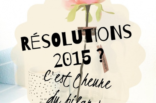 ⛄ Mes résolutions 2015 ? C'est l'heure du bilan !