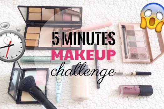 5 Minutes Makeup Challenge
