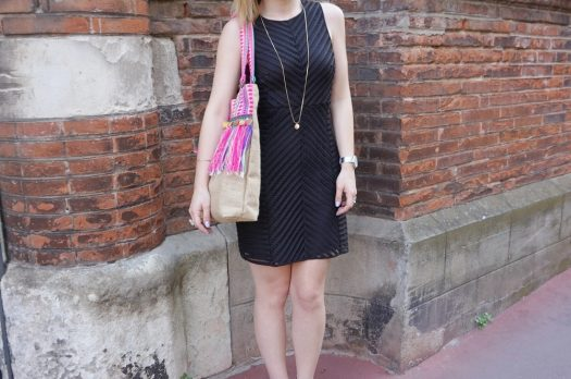 LOOK n°55 : Perfecto rose & sac à franges