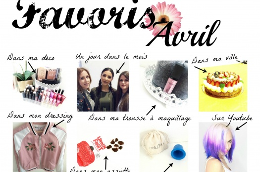 MES FAVORIS D'AVRIL 2016