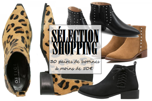 Sélection shopping : 30 paires de bottines à moins de 50€
