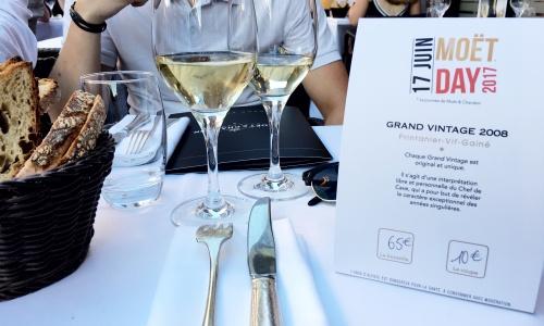 Moët Expériences : Dégustation champagne au restaurant La Gourmandine
